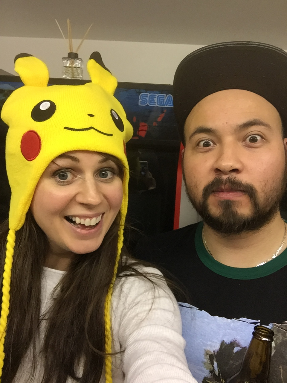 You know the voices, now know the faces! (see I did let her wear the Pokemon hat!)
