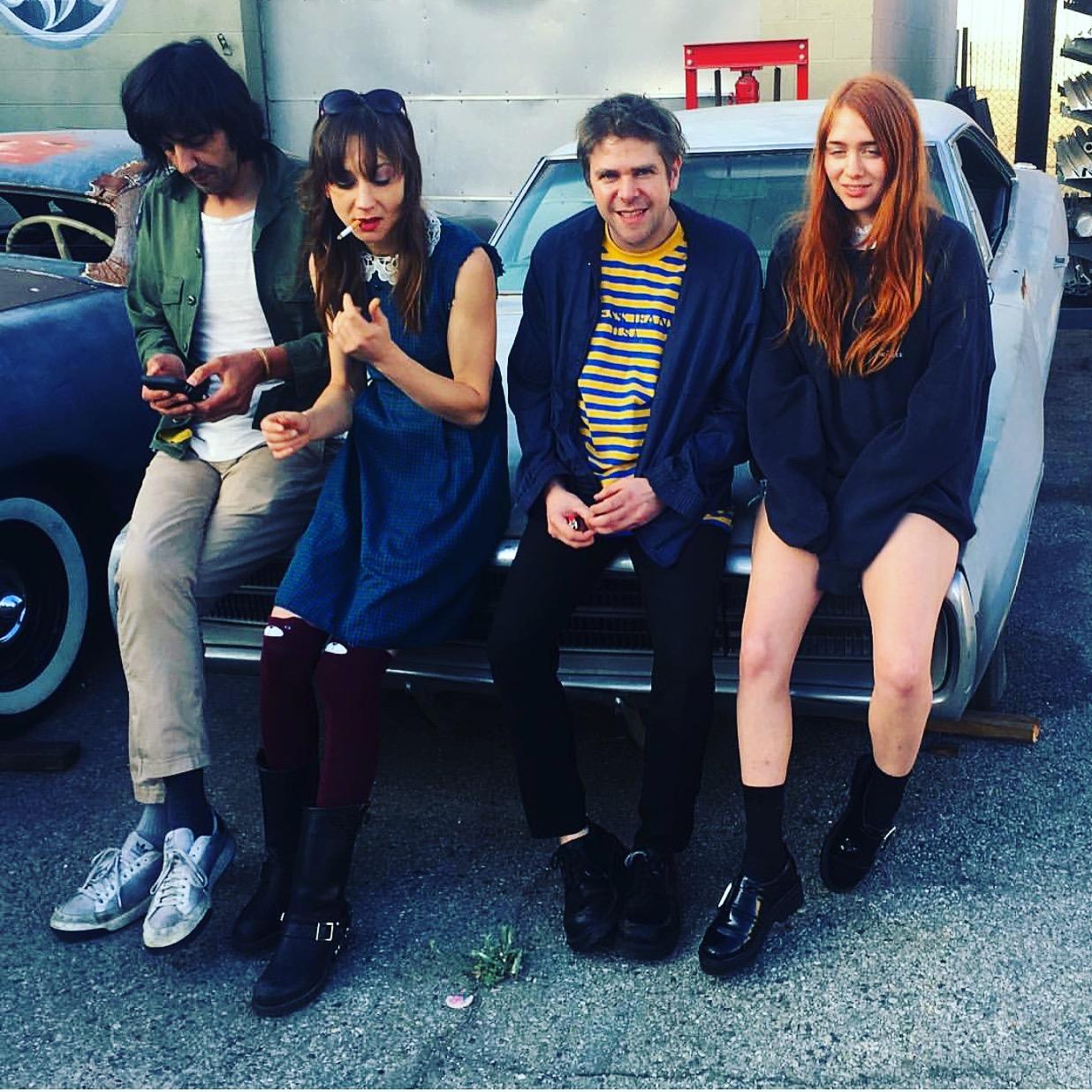 L-R // Aaron Sperske, Annie Hardy, Ariel Pink and Charlotte Ercoli. Photo by Joe Cardamone.