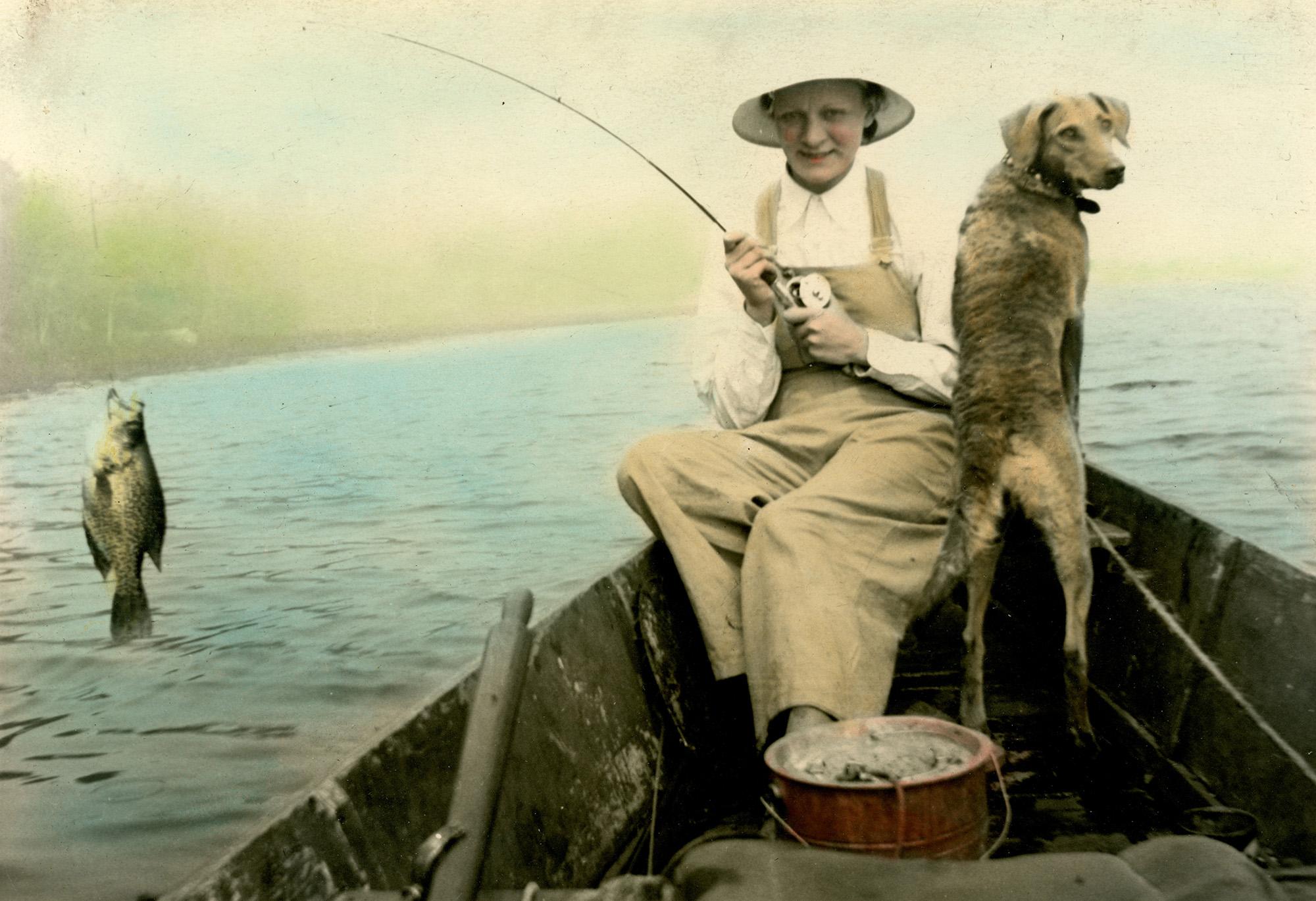Hand-tinted photograph, ca. 1935