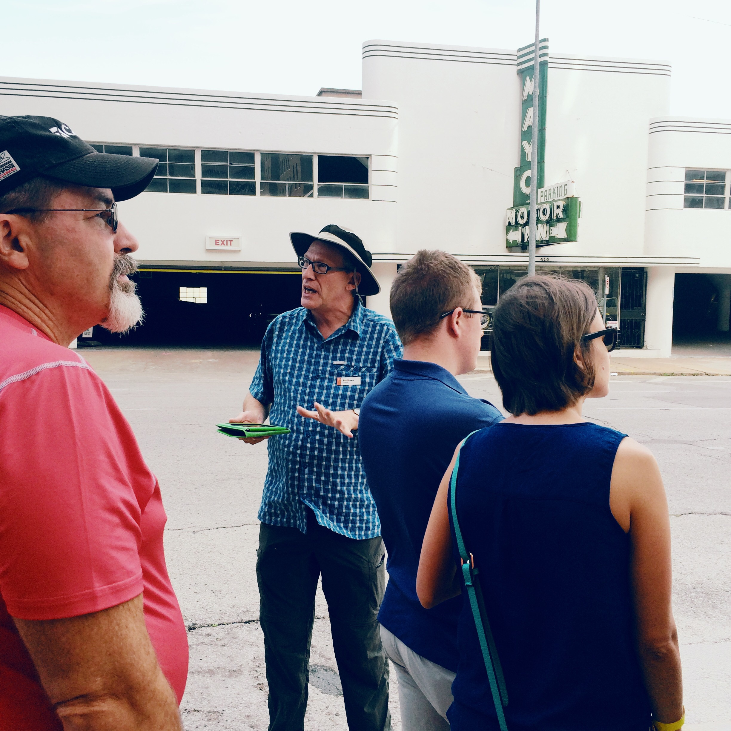 This sweet guy in the hat was our tour guide and he was a weath of knowledge PLUS you could tell he just has a passion for Tulsa and it's story.