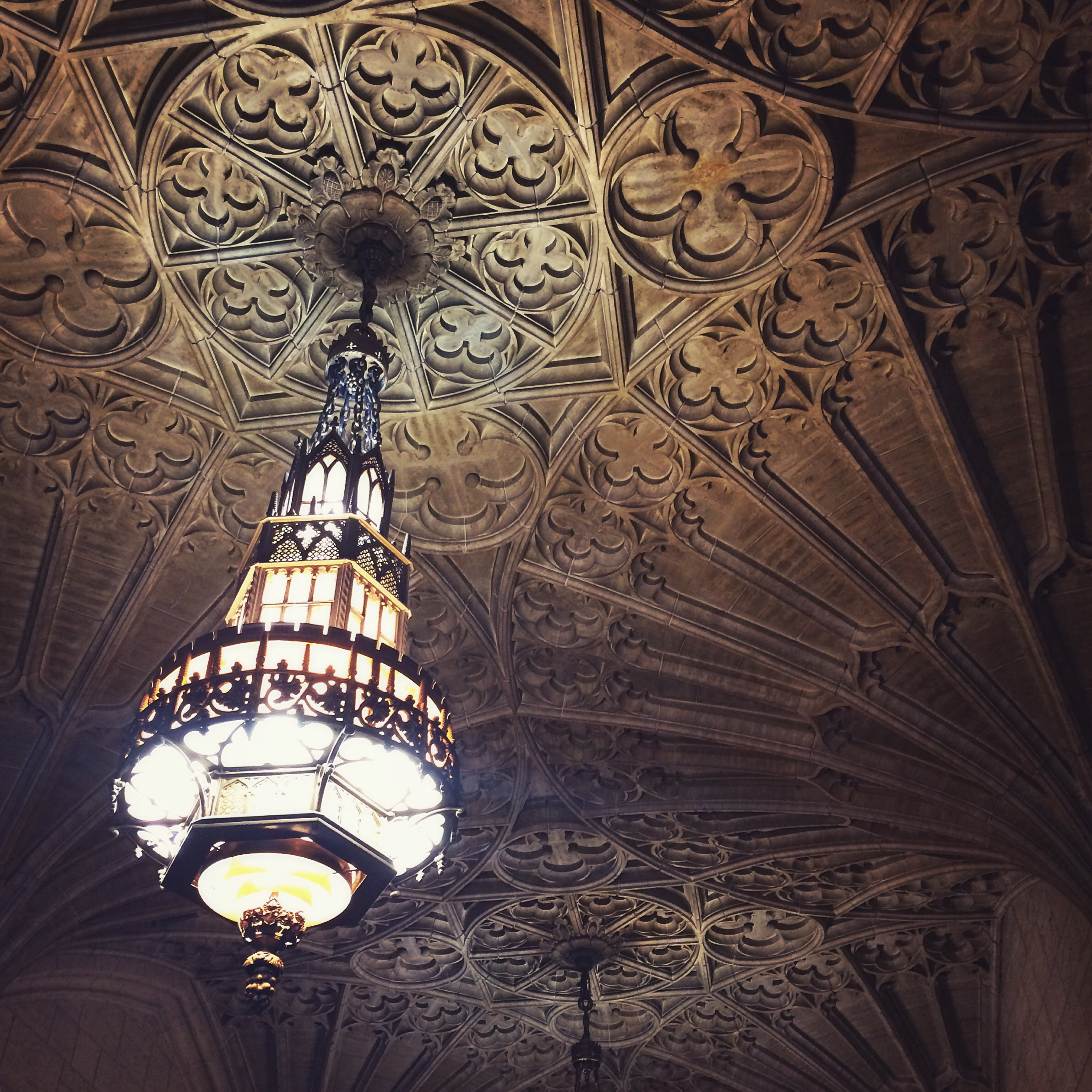 This is the ceiling in the Philtower! Isn't it amazing! It is carved travertine tile that was designed by artist from Italy!