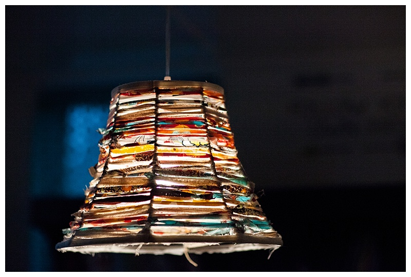 handmade lampshade, Jenks Homeschool room