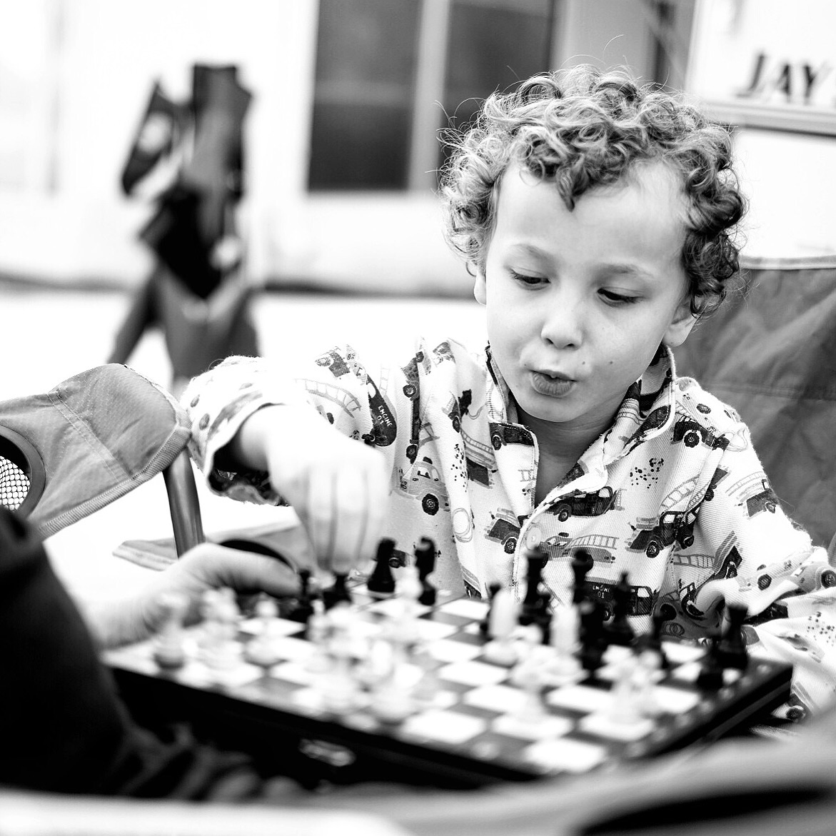 Colin is obsessed with chess right now.
