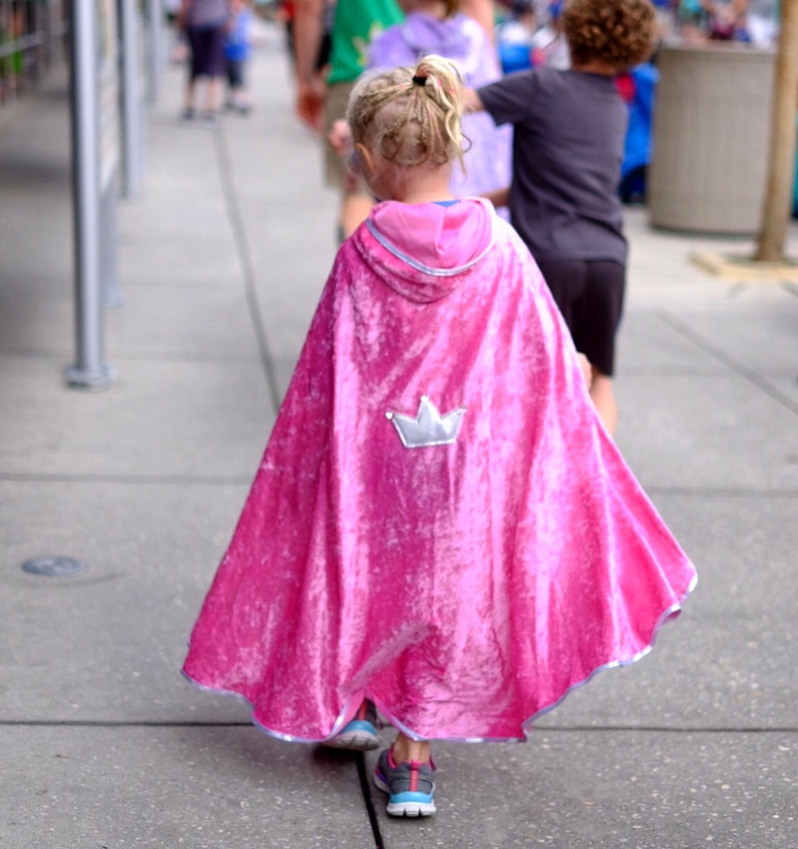 A princess needed a cape!