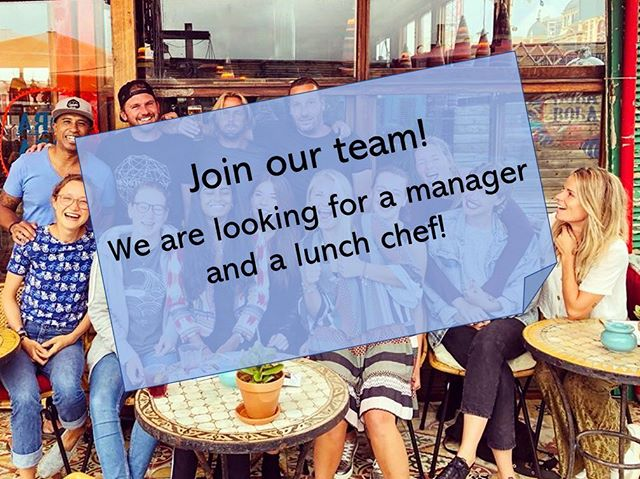 We are looking for a manager and a independently working cook! 👨🏽‍🍳 You would work in with a small team to prepare great lunches and dinners! 🌞 Barista skills would be needed for this position 💪  Interested?  Just contact us trough email: info@meneerchocola.nl , Facebook, Instagram or just call 0645521366