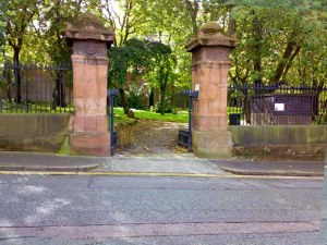KEY HILL:The main entrance to Key Hill Cemetery. Notice the old red sandstone pillars are still there, and the cemetery itself is much better looked after than it used to be with an active 'friends'group, who lobby for action and raise funds to preserve this lovely old burial ground. Incidentally, does anyone else NOT find cemeteries spooky? I find them quite resting, though I probably wouldn't go as far as eating my lunchtime sandwiches in one of them!!
