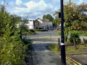 The 'Flat' from Key Hill, taken from just to the left of where Norton's department store used to be. The last row of shops between Heaton Street and Icknield Street were demolished to make way for the widening of the ring road – Icknield Street.