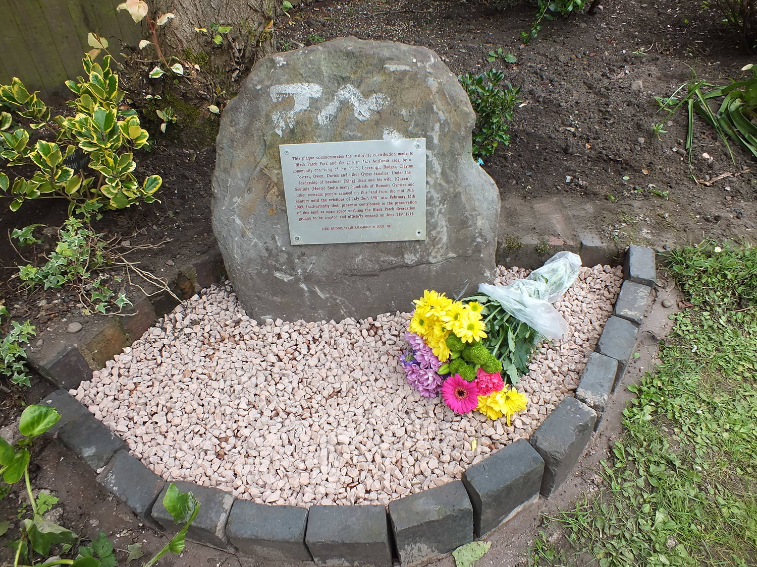 FIRST MEMORIAL AFTER COMPLETING THE MOVE FROM BLACK PATCH PARK INTO THE GROUNDS OF SOHO FOUNDRY TAVERN, FOUNDRY LANE, SMETHWICK 12/07/2013