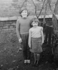 Sue Low and Jane Rodgers at the top of the garden 18 Benson Rd.