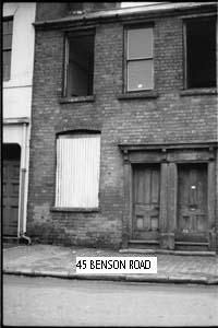 This photograph of 45 Benson Rd next to The Wonder Vaults pub was taken by my dad John Rowe in 1966/7 just before its demolition.