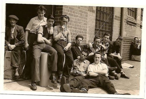Martin+Byrne,+Senior,+left+with+cap.+Matt+Redmond,+Right+front++sitting+on+ground++outside+Rowlands+Electrical+Accessories+Limited+(The+Real)+June+1955+(3)+(1).jpg