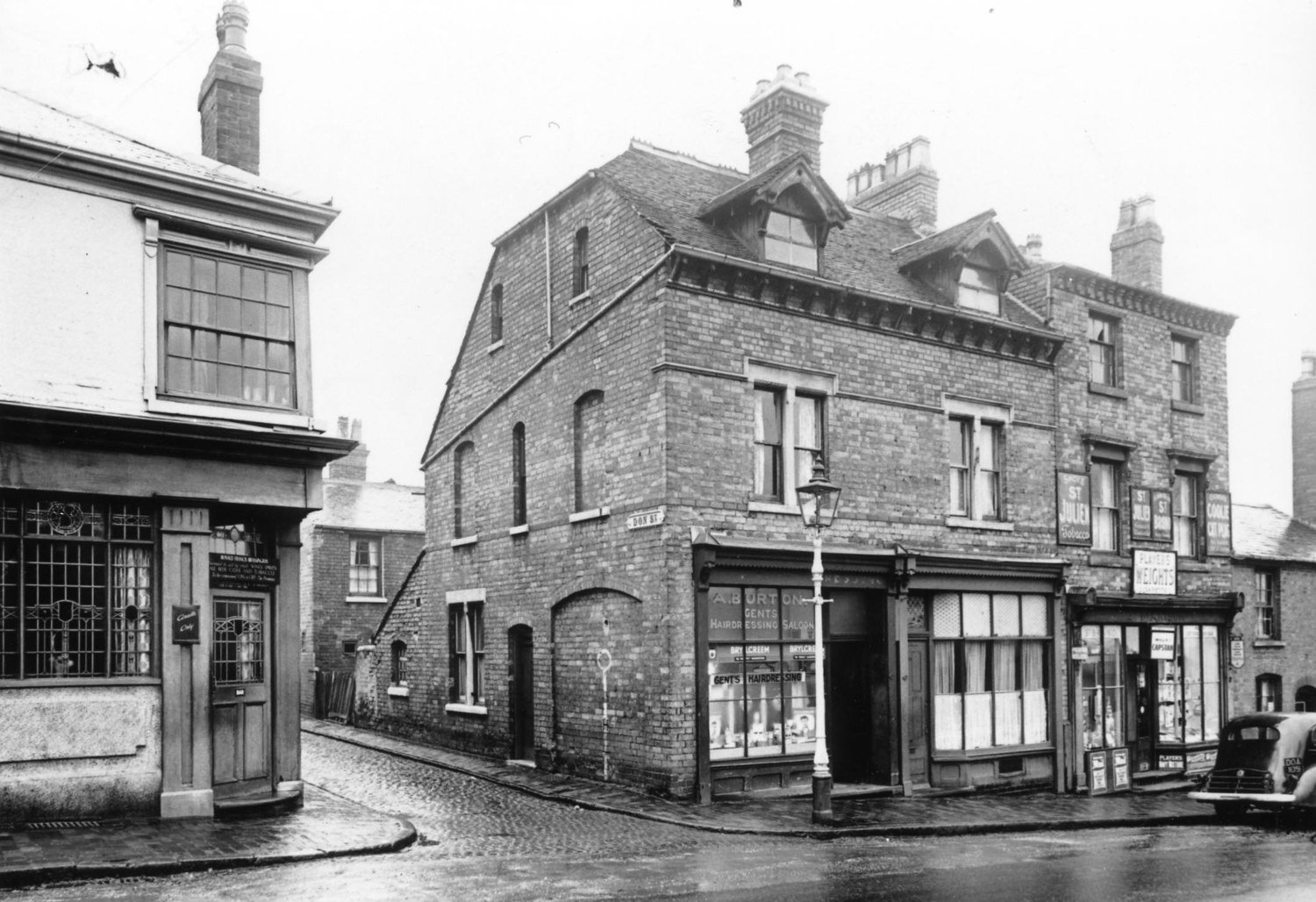 DON STREET OFF LODGE ROAD the DON PUBLIC HOUSE ON ONE CORNER and BURT'S BARBERS SHOP ON THE OTHER
