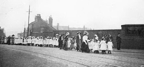 On the bridge between All Saints Road and Paxton Road Year 1900?? Any one know what this procession was about?? Another Mac Joseph Photo