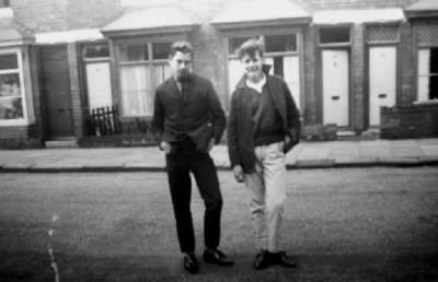 On the right is Jeffrey Ince who was tragically killed serving in Aden. On the left Tommy Griffiths? who lived on Lodge Road nr Bacchus Road.                                                       John Lowe jon.lowe29@tiscali.co.uk