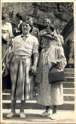 Nellie Florence Hill (nee Foster) AND a neighbour named MIN.