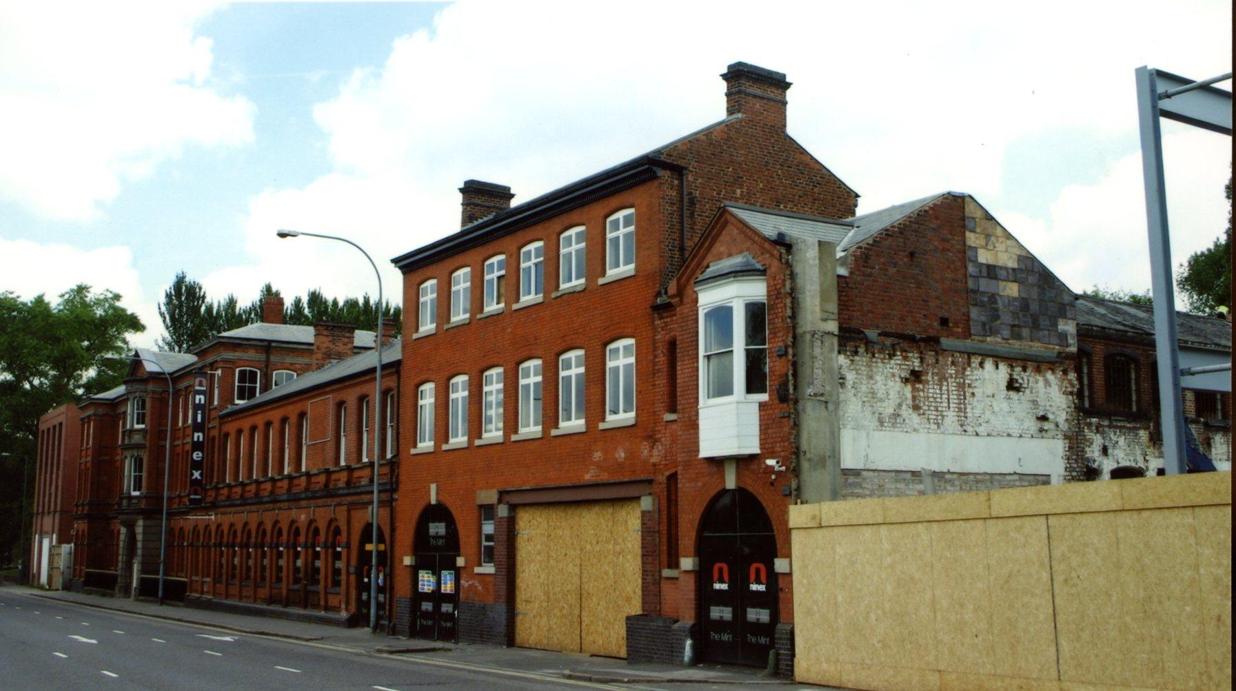 The old Birmingham Mint Building Icknield Street under redevelopment 2015