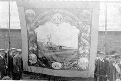 AMALGAMATED SOCIETY of RAILWAY SERVANTS,Hockely Branch sometime pre 1913 Photo thanks to Mc Joseph