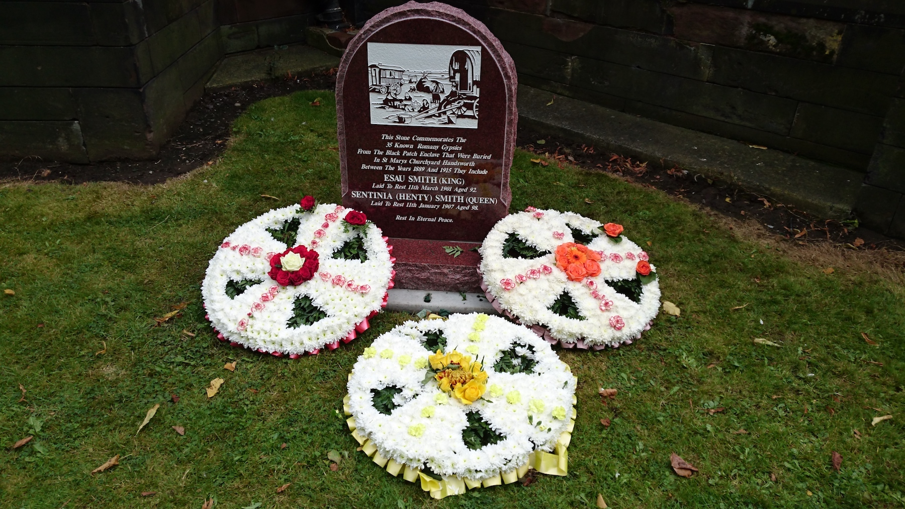 The new Memorial after the dedication service.