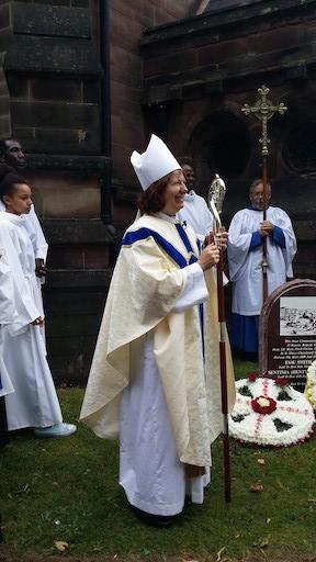 Bishop Anne, the Bishop of Aston conducting the dedication.