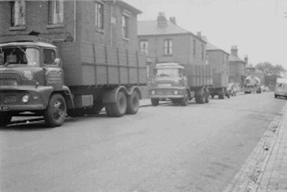 KENT STREET NORTH WITH KAVANAGH AND HYDE'S COAL LORRIES