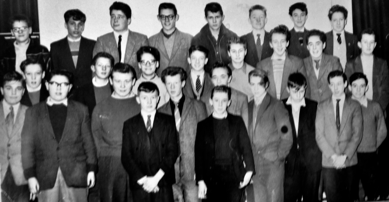 Leaving Handsworth New Road School CLASS OF 1959                                                                               Second boy on the front row right hand side is Terry Jordan can anyone name the others.                                Contact Terry on  tandp.jordan17@mypostoffice.co.uk