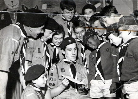 Taken in the early to mid sixties, with  David Smith receiving his Queens Scout Award. Thanks to Martin Hanchett for the photograph