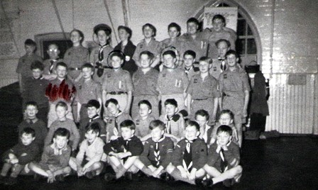 Taken  in the late fifties, showing the whole troupe they used to meet on a Thursday night in the hall of Foundry Road School. Thanks to Martin Hanchett for the photograph