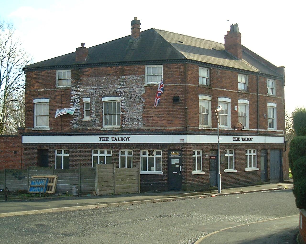 THE TALBOT pub in 2005. DEMOLISHED around 2012