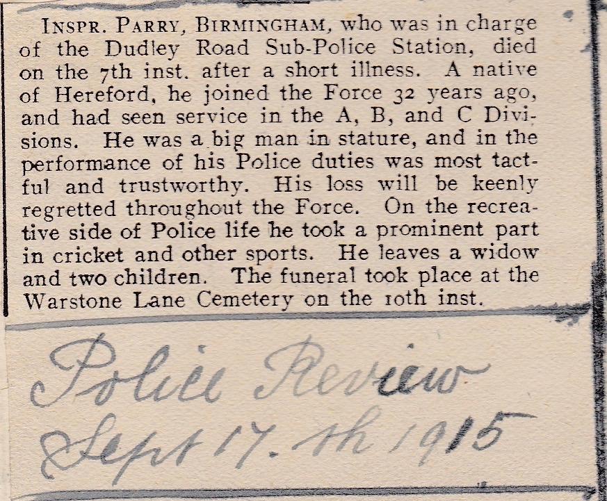 POLICE REVIEW 17 SEPTEMBER 1915