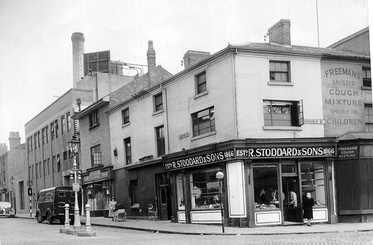 CARVER STREET 14/08/2019                                                                                                                                R STODDARD & Sons.  I WORKED THERE IN 1968-1969 IN THE PIE FACTORY AND SAUSAGE AND SLAUGHTER HOUSE. WHEN THE PIGS USED TO COME IN. AND MY DAD USED TO DELIVER THE SAUSAGES. SPUD THEY CALLED HIM. GREAT BACK THEN. Roy Taylor  roy36766@gmail.com
