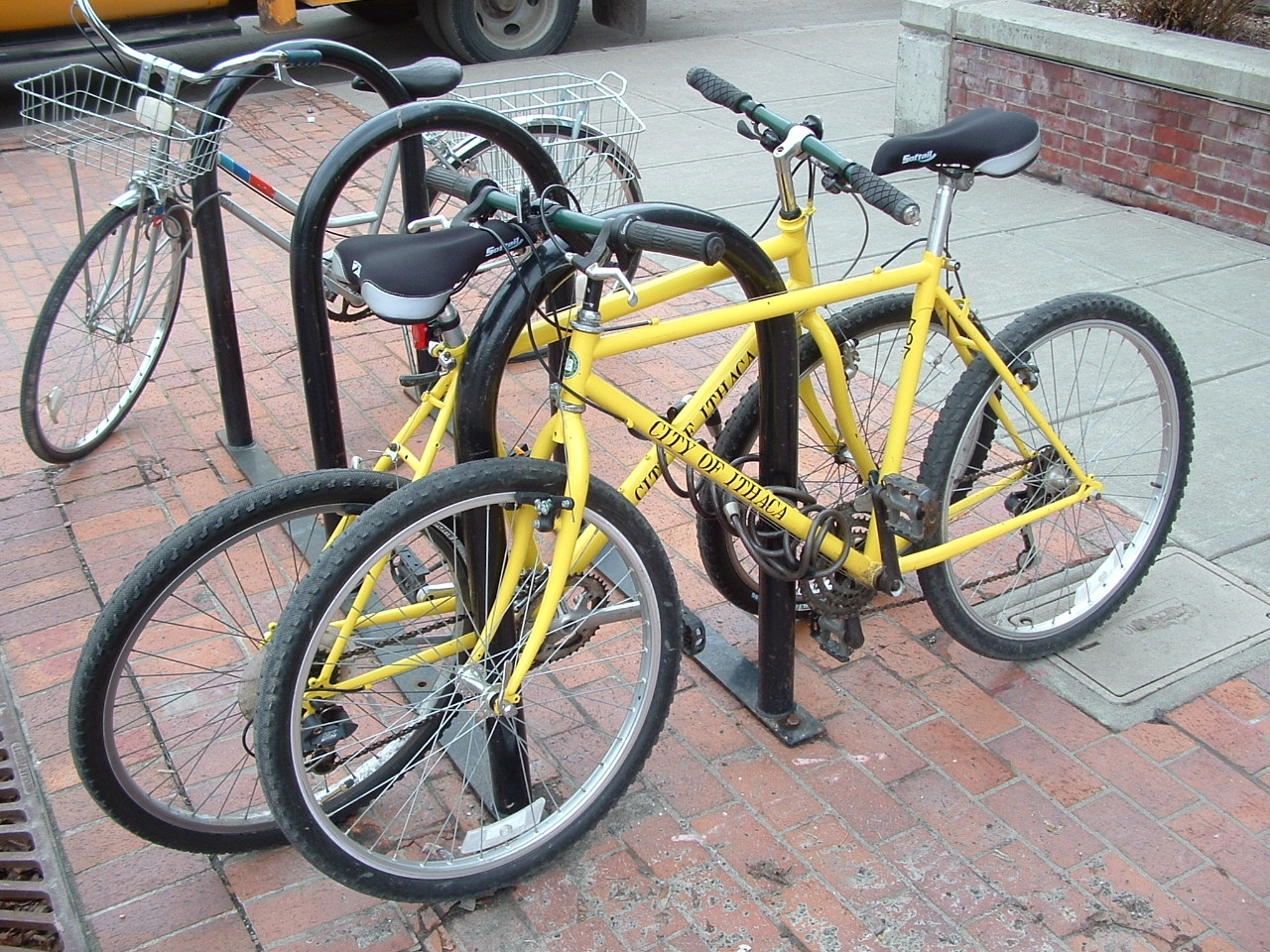 The City of Ithaca provides bikes to its employees for short trips and errands. Photo: Kent Johnson