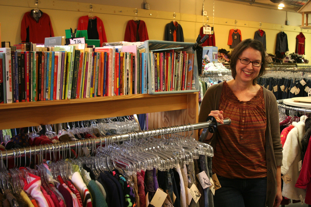 Kelly Moreland in Mama Goose, one of her stores (Provided)