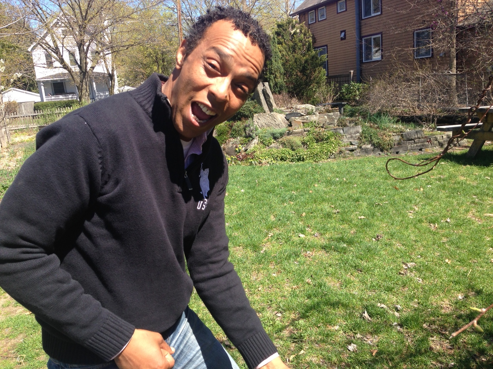 Gibrian in the garden at Cornell Cooperative Extension. Picture: Karim Beers.