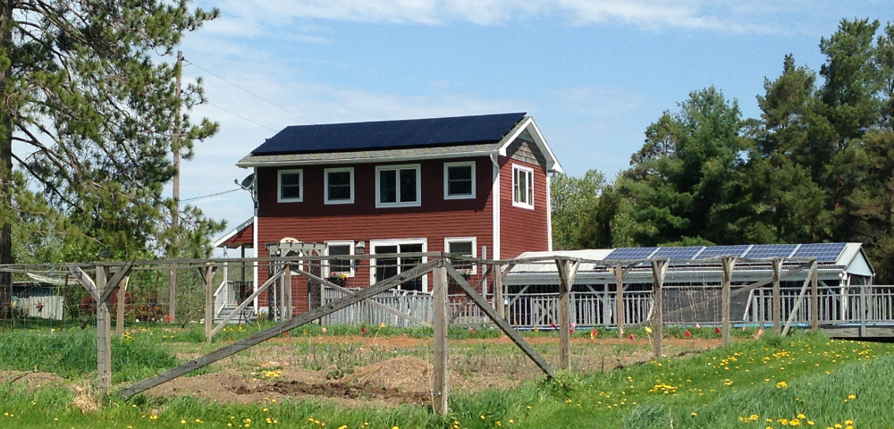 Solar on a home in the Town of Caroline. Photo courtesy of Sustainable Tompkins