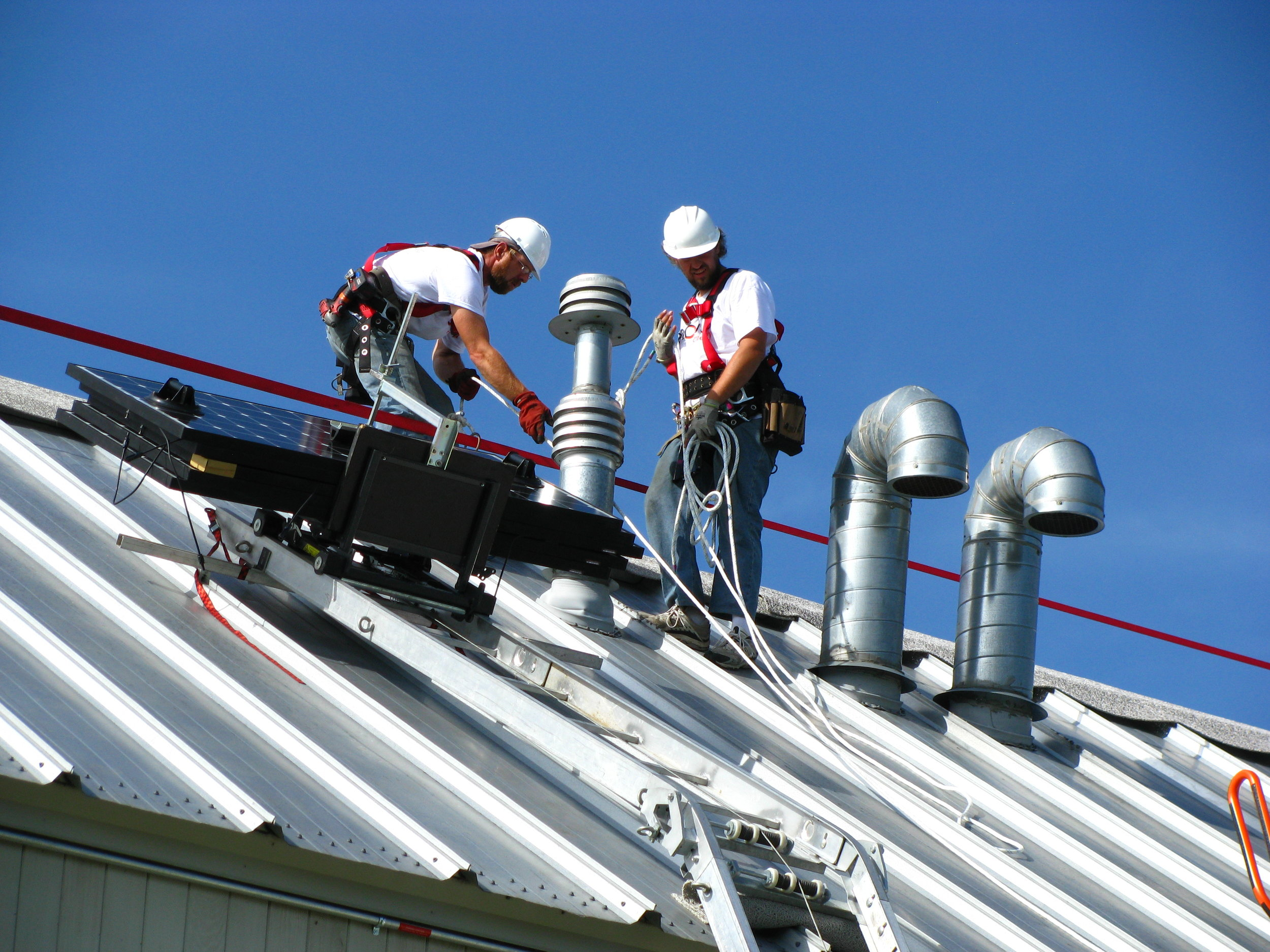 Commercial team installs a system at the Tompkins County SPCA | Photo courtesy Renovus Solar