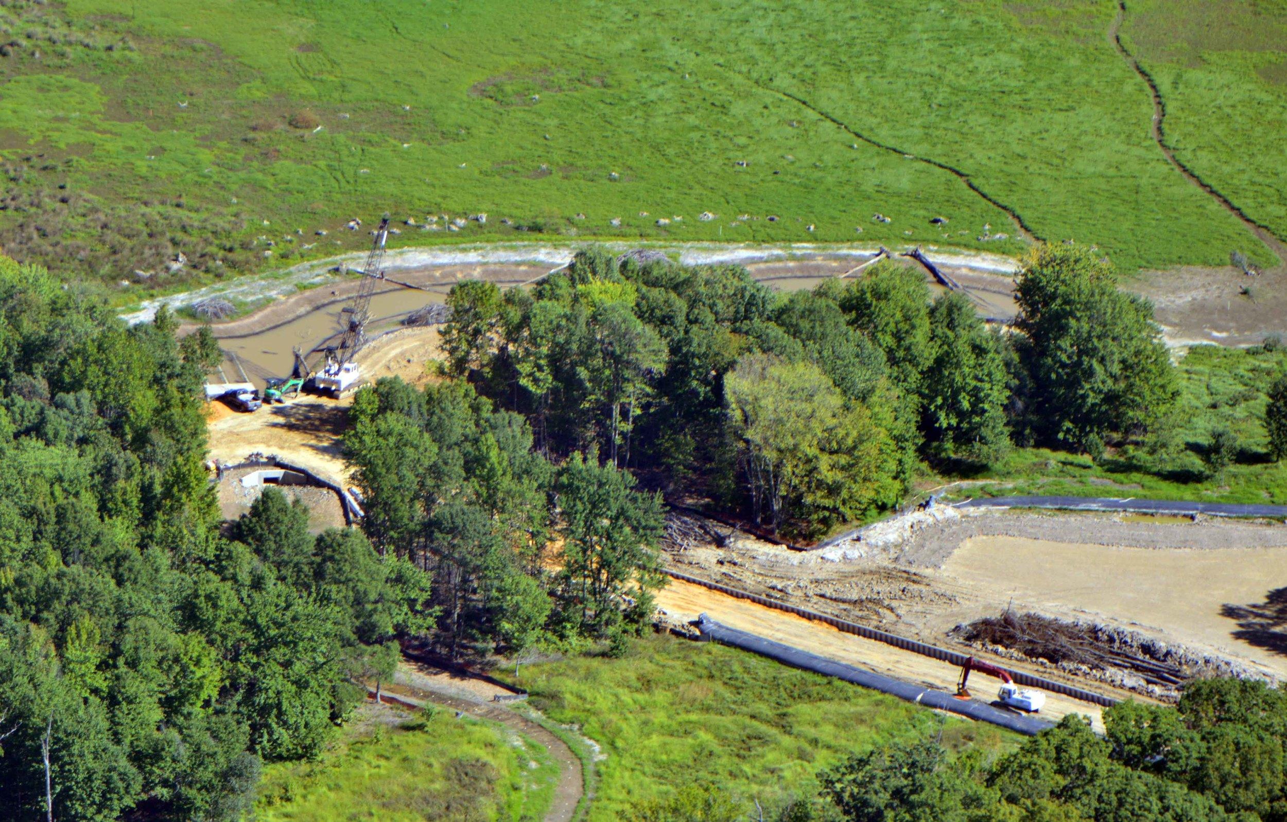 Construction of Huntley Meadows Park wetland restoration