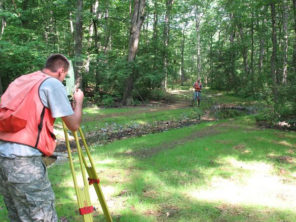 As-built survey of a stream restoration