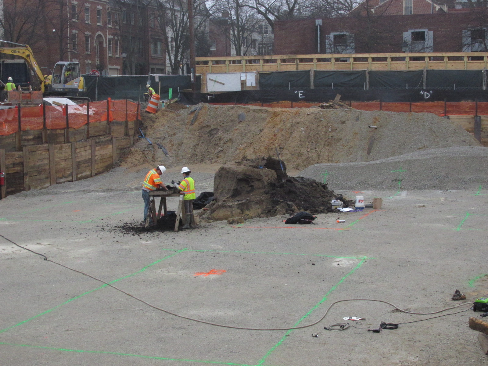 Our archeologist excavate the 18th-century privy thought to be associated with the previously identified the Carlyle warehouse.