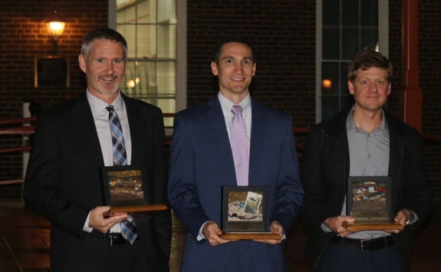 WSSI's John Mullen (left) received the Brenman Award along with Michael Wilson (middle) and Dr. George Schwarz (right)