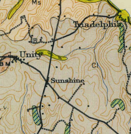Montgomery County will rely on historic map research, archival research, and archeological investigations to identify old burial grounds. Historic maps, such as this 1914 USGS topographic map, depict cemeteries and churches.