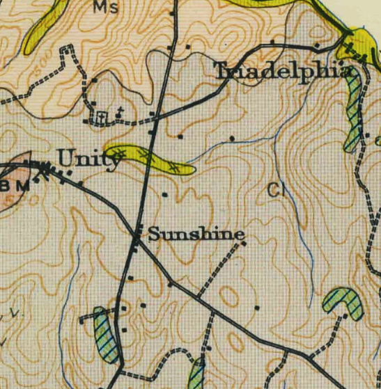 Cemeteries are shown on this 1914 USGS topographic map