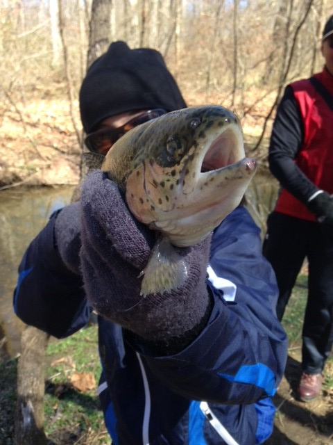 One of the successful anglers