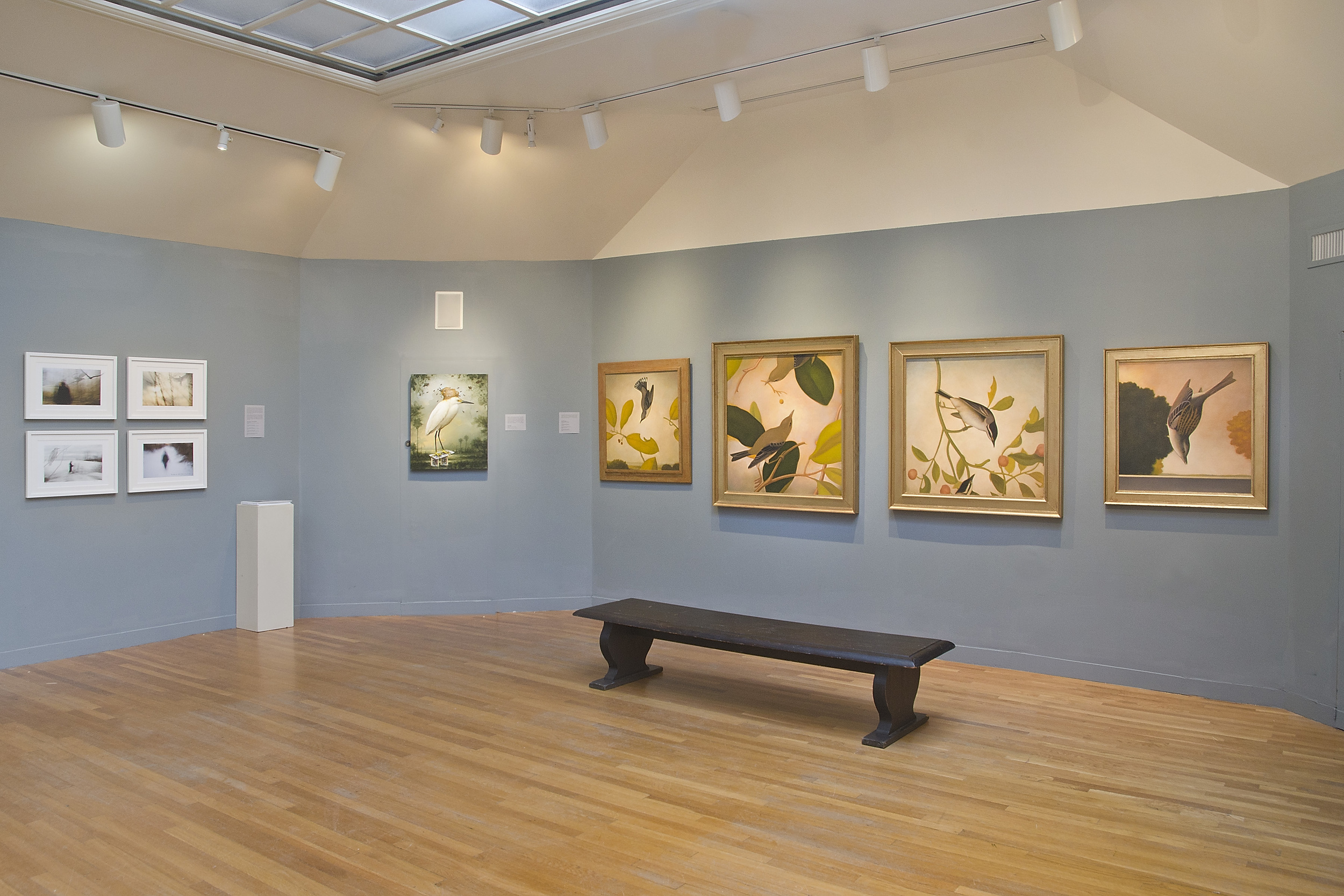 From left: Artwork by Stefan Hagen and Patricia Watwood; Kevin Sloan; and Trent Burleson at Concord Art
