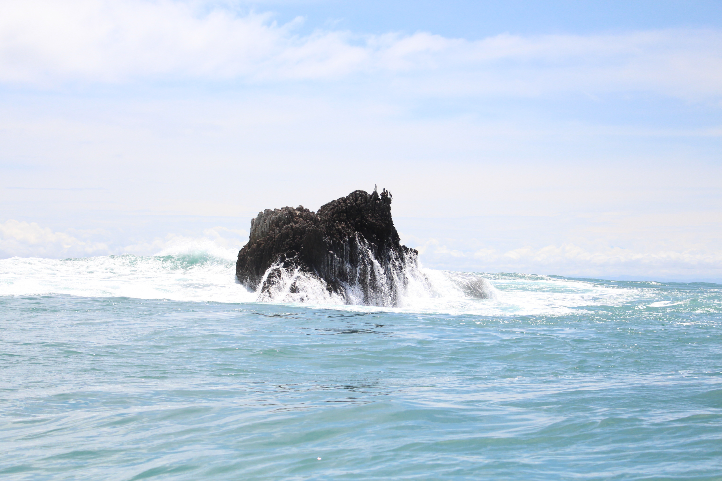 Hours were spent trolling around this rock. Enrique, our local panga guide would get no farther than ten feet away from the structure to let us cast into it.