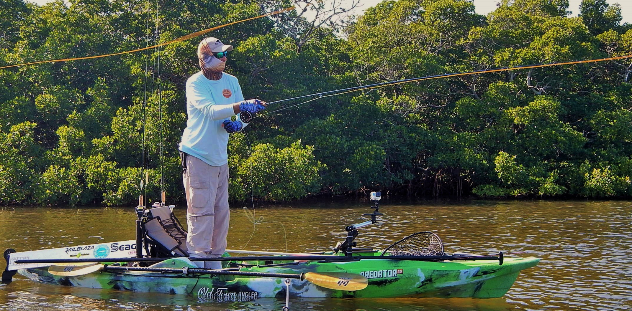 If you like or are interested in kayak fishing and/or fishing the gulf coast and inner waters of Florida, Eric is the Guide for you!    A little about Eric Henson:  My love for paddling and fishing began at a very young age. I grew up on a beautiful lake in DeLand, FL. My dad bought a red Old Town Canoe for us to paddle around the lake. My next door neighbor on the lake was a Pro Bass fisherman who regularly stocked our lake with all types of freshwater species. When I was 9 years old, my dad and neighbor bought me my first spinning reel for my birthday. Soon after I picked up my first fly setup. I was blessed to have this great introduction to the water at such a young age. I spent much of my childhood in that shiny red canoe paddling the lake every day, catching Largemouth Bass, Stripe Bass, Speckled Perch, and Blue Gill.  I moved to the west SW coast of Florida when I was 14 years old. I hadn't ever really done any serious saltwater fishing before that, except off of docks, beaches, and piers. We had left the canoe with the lake house when we moved. I continued fishing from land and from friends' boats, but I kept thinking about how fun it would be to get back to paddling around catching fish. There were so many places that I wanted to fish that I couldn't quite get to by boat. As soon as I was old enough to get my first truck, I was ready to get something to paddle! Kayaks were just starting to become popular for fishing, so, I invested in my first kayak. Man, when I got in the water with that thing, I felt invincible—the unlimited places I was able to go with it. I can't even begin to tell you how many fish that I caught out of that yak.  My favorite type of fish to target in SW Florida are redfish, snook, trout, and tarpon. Once I learned a lot of their behaviors and patterns, I starting thinking about my next step. I have always had a competitive nature so, I started entering kayak fishing tournaments. Kayak fishing tournaments are a true test for an individu