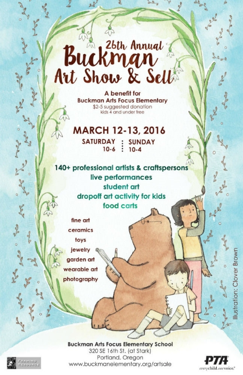 Thank you from all of us! The the 26th annual Buckman Art Show & Sell, a benefit for Portland's art focus elementary school, was fun and ...magical!