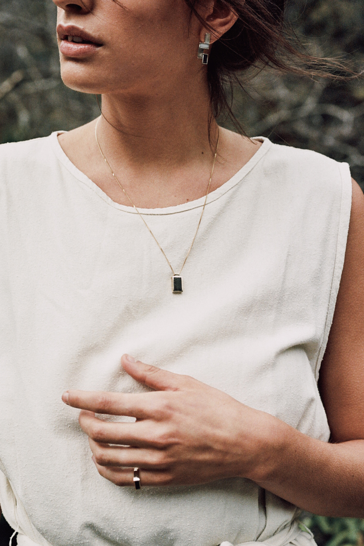 Marmo Pendant and Earrings