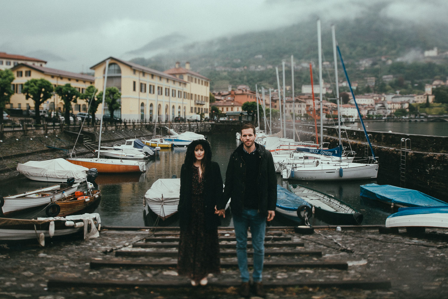 mackenzie +travis / como lake - Italy  ___  engagement                       photo