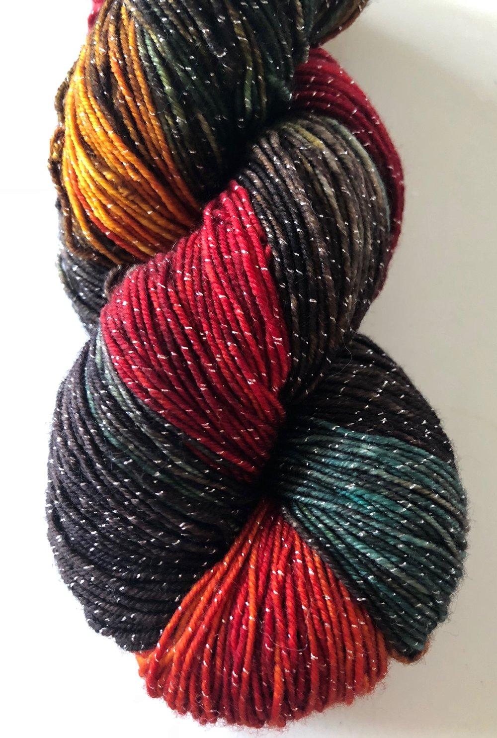 RTS Eros Yak Silk DK Yarn Light Worsted Weight Superwash Merino Wool Silk Yak Yarn Red