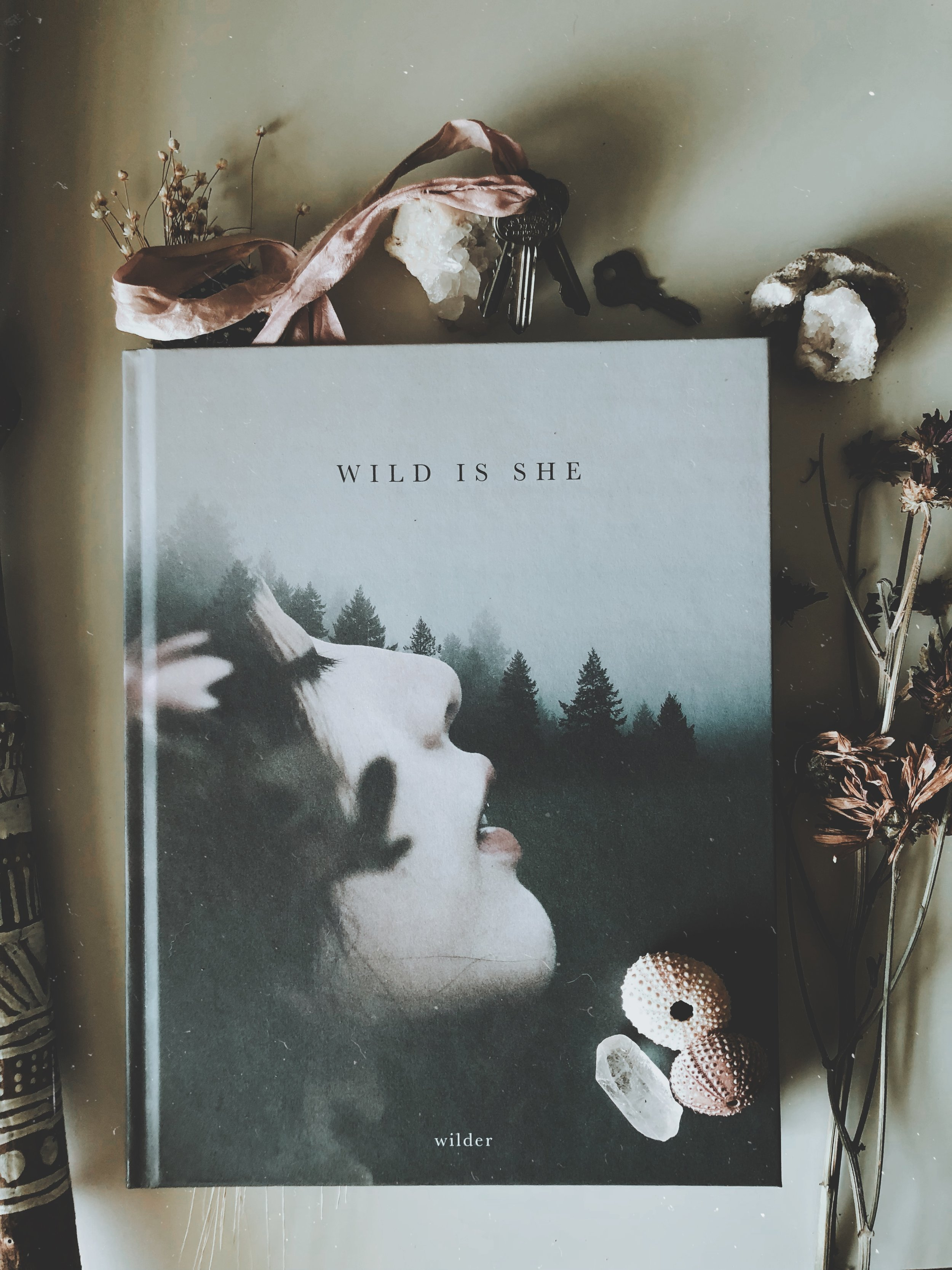 Wild is She - wild is she is a poetic collection of imagery and words joined together to tell a story of beauty and diversity, discovering the wild and unknown. in celebration of the imperfect, charming & peculiar, wilder explores the art of adventure and leaves it to be found in the palms of your hands.•